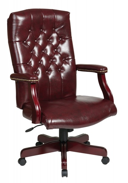 TEX Collection Mahogany Traditional Padded Arms Executive Chair OSP-TEX232-JT4