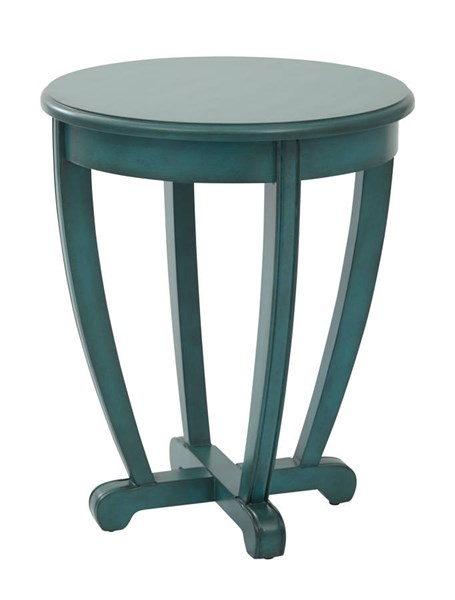 Tifton Blue Wood Round Robust Design Accent Table OSP-TFN17AS-BL