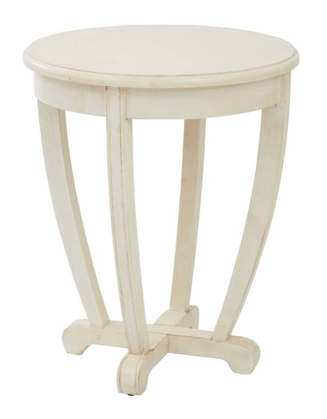 Tifton Cream Wood Round Robust Design Accent Table OSP-TFN17AS-CM