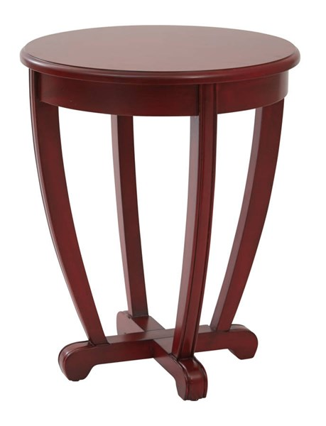 Tifton Red Wood Round Robust Design Accent Table OSP-TFN17AS-RD