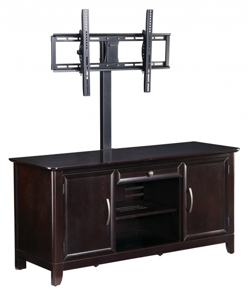 Claremont Black Espresso TV Stand w/Swivel & Tild TV Bracket OSP-TVB3254NES-SET