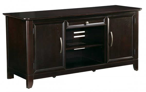 Claremont Transitional Espresso Solid Wood 54 Inch TV Stand OSP-TV3254NES