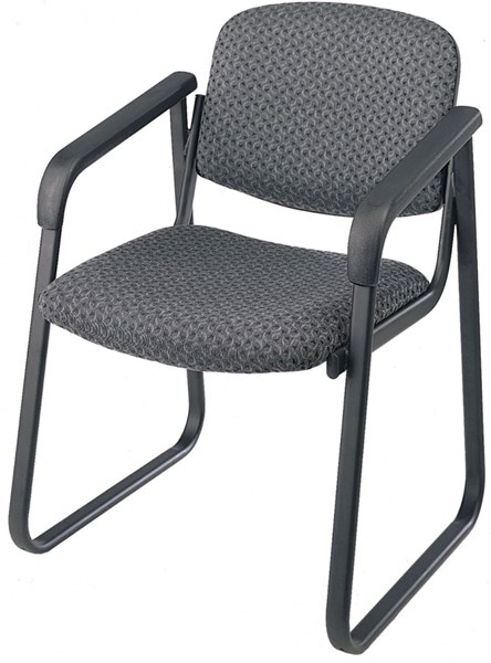 Visitors Charcoal Deluxe Sled Base Arm Chair w/Designer Plastic Shell OSP-V4410-75