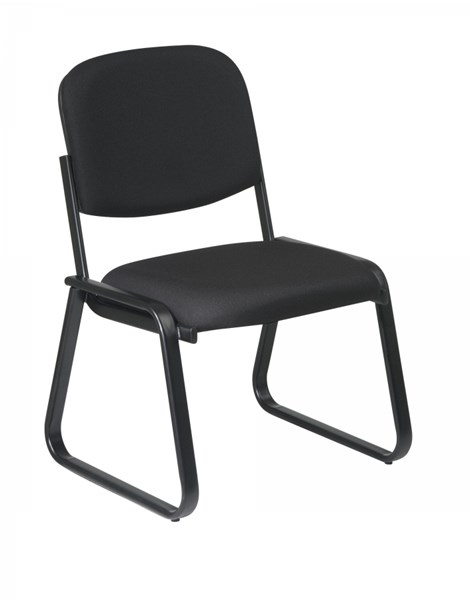 Visitors Black Deluxe Sled Base Armless Chair w/Designer Plastic Shell OSP-V4420-231
