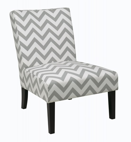 Victoria Modern Zig Zag Grey Fabric Wood Chair OSP-VCT51-Z13