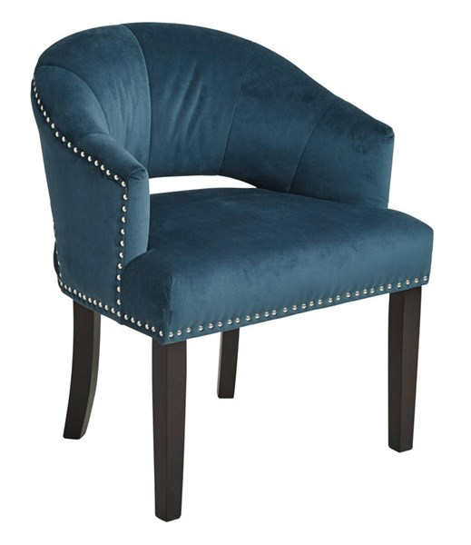 Vivian Modern Azure Fabric Dark Espresso Wood Nailhead Chair OSP-VVN-V14