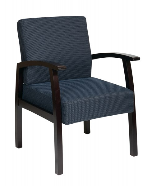 Deluxe Mahogany Charcoal Fabric Guest Chair OSP-WD1353-CH-VAR