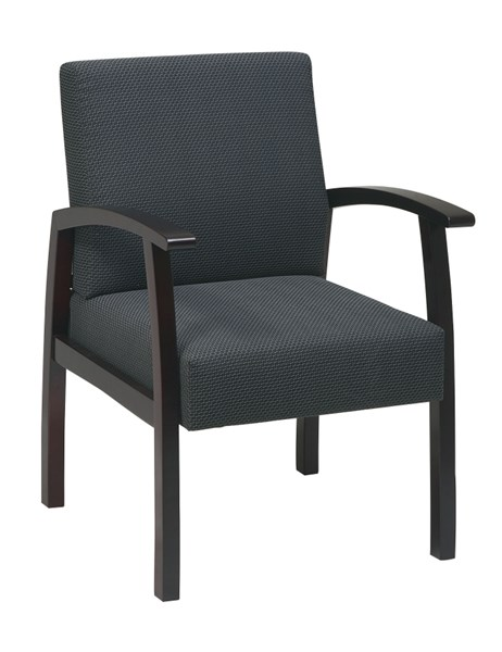 WD Collection Mahogany Charcoal Deluxe Fabric Guest Chair OSP-WD1353-320