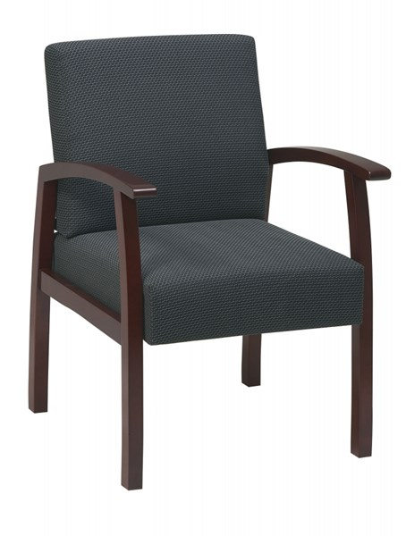 WD Collection Cherry Charcoal Deluxe Guest Chair OSP-WD1357-320 OSP-WD1357-320