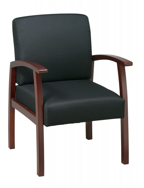 WD Collection Cherry Black Deluxe Guest Chair OSP-WD1357-363 OSP-WD1357-363