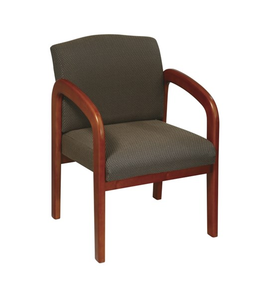 WD Collection Taupe Oak Wood Fabric Visitor Chair OSP-WD380-316