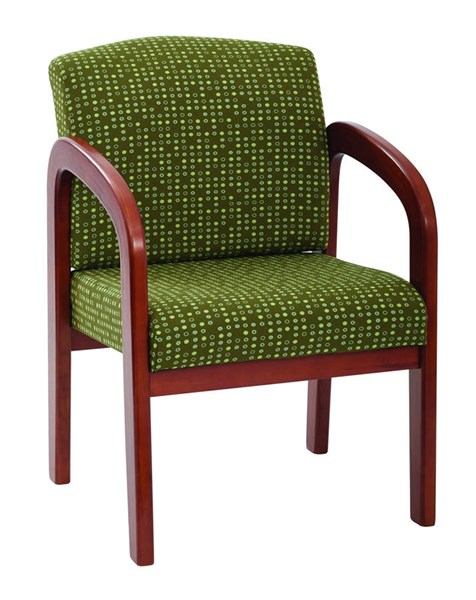 WD Collection Contemporary Herb Fabric Medium Oak Wood Visitors Chair OSP-WD380-K103