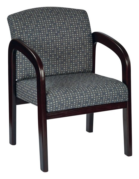 WD Collection Ash Fabric Mahogany Wood Visitor Chair OSP-WD383-K102