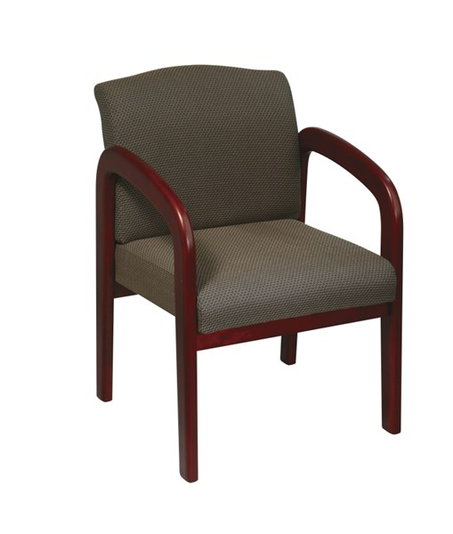 WD Collection Cherry Wood Taupe Fabric Visitor Chair OSP-WD387-316