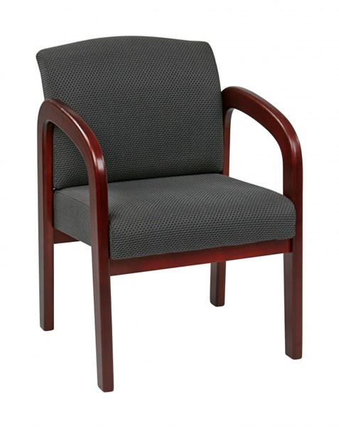 WD Collection Cherry Wood Charcoal Fabric Visitor Chair OSP-WD387-320