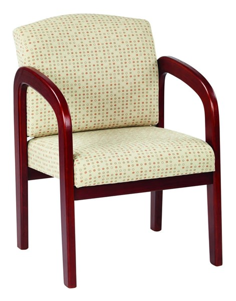 WD Collection Contemporary Luna Ash Fabric Cherry Wood Visitor Chairs OSP-WD387-K-VCH-VAR