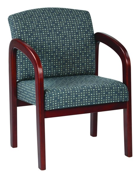 WD Collection Contemporary Ash Fabric Cherry Wood Visitor Chair OSP-WD387-K102