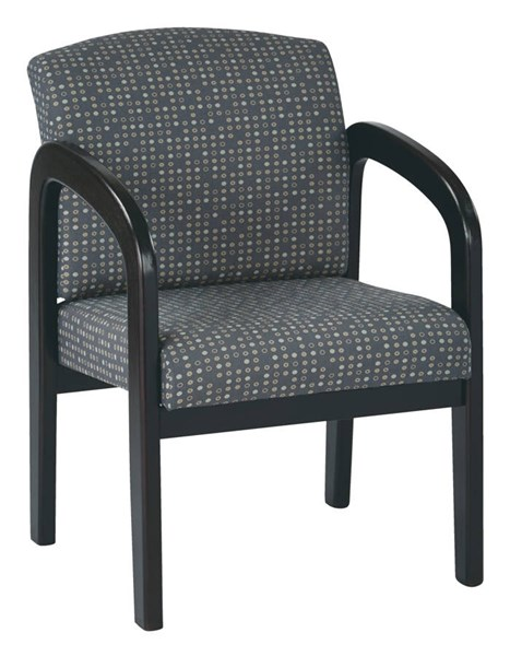 WD Collection Contemporary Ash Fabric Espresso Wood Visitor Chair OSP-WD388-K102