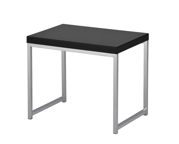 Wall Street Black Melamine Chrome Plated Steel Frame End Table OSP-WST09-BK