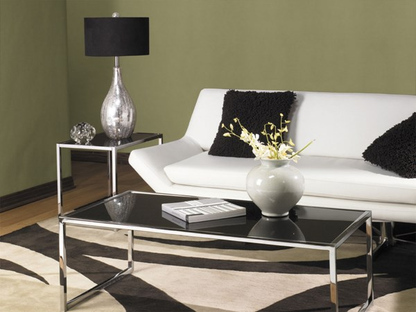 Yield Black Crome Metal Glass Coffee Table Set OSP-YLD04-OCT