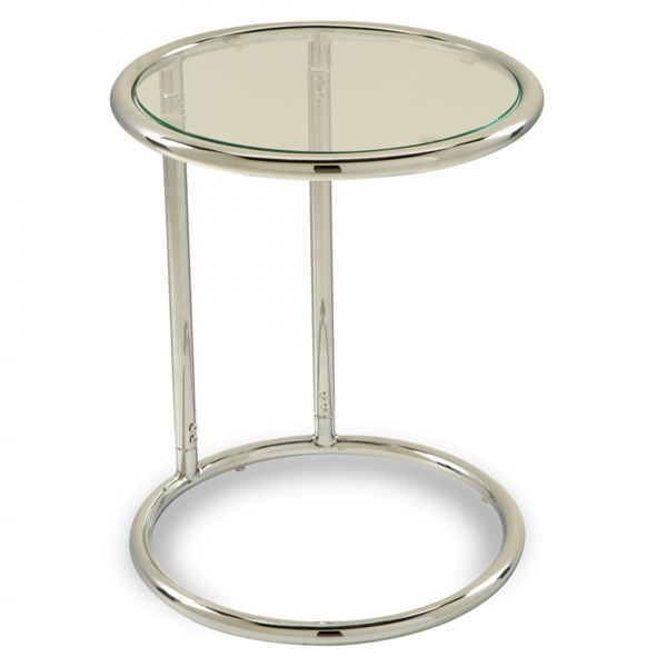 Yield Contemporary Chrome Metal Clear Glass Circle Table OSP-YLD14