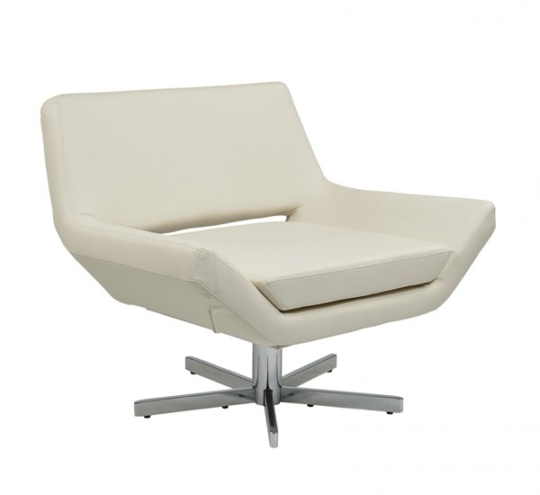 Yield White Chrome Faux Leather Metal 40 Inch Wide Chair OSP-YLD5141-W32