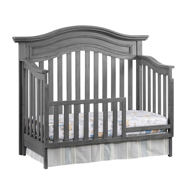 Oxford Glenbrook Graphite Gray Toddler Bed with Guard Rail OXFD-27011530-27095530