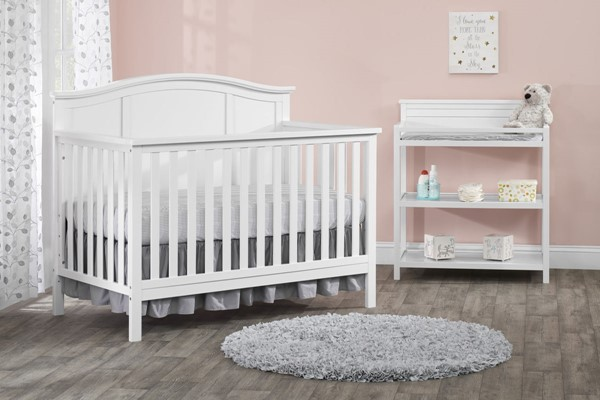 Oxford Emerson Snow White 2pc Crib Set with Changing Table OXFD-66011420-KBR-S1
