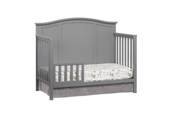 Oxford Emerson Dove Gray Toddler Bed with Guard Rail OXFD-66011550-66095550