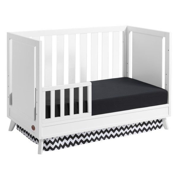 Oxford Holland White Toddler Bed with Guard Rail OXFD-10513420-10596420