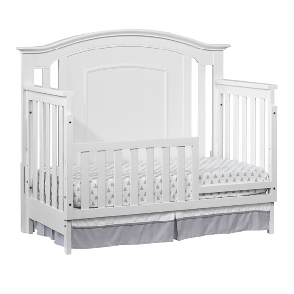 Oxford Willowbrook White Toddler Bed with Guard Rail OXFD-28111420-22295420