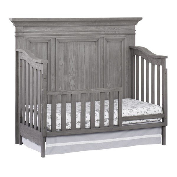 Oxford Westport Dusk Gray Toddler Bed with Guard Rail OXFD-19011530-19095530
