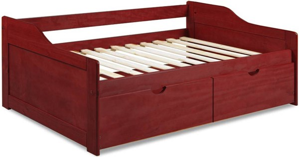 Rio Mahogany Solid Wood Twin Daybed w/Drawers PIF-1322-DBD