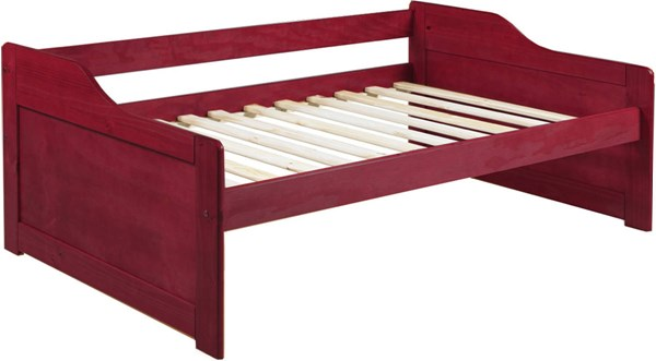 Rio Mahogany Solid Wood Twin Daybed ( L 76.75 x W 43.50 x H 27.50 ) PIF-1322