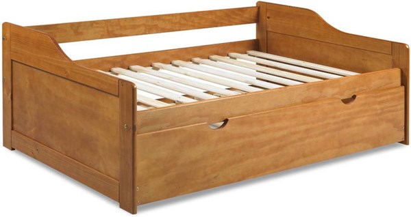 Rio Honey Pine Solid Wood Twin Daybed w/Trundle PIF-1324-DBT