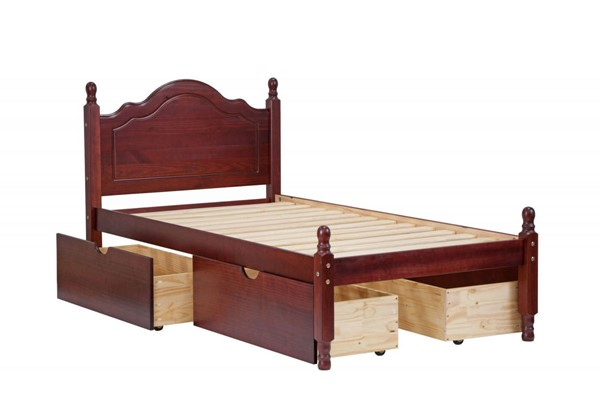 Palace Imports Reston Solid Wood 4 Drawers Twin Platform Beds With 4 Drawers PIF-RESTON-FOUR-DRW-BED-VAR