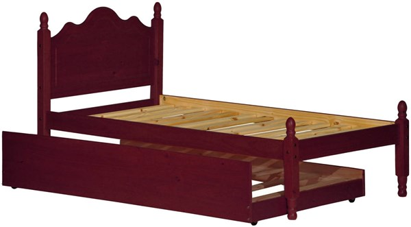 Palace Imports Reston Mahogany Wood Platform Trundle Beds PIF-1432-TPNBT-VAR