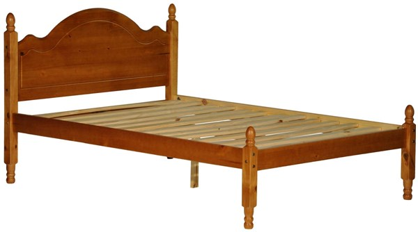 Reston Traditional Honey Pine Solid Wood Full Panel Bed PIF-1444