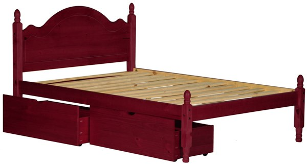 Reston Traditional Mahogany Solid Wood Full Panel Bed w/Drawers PIF-1442-FPNBD