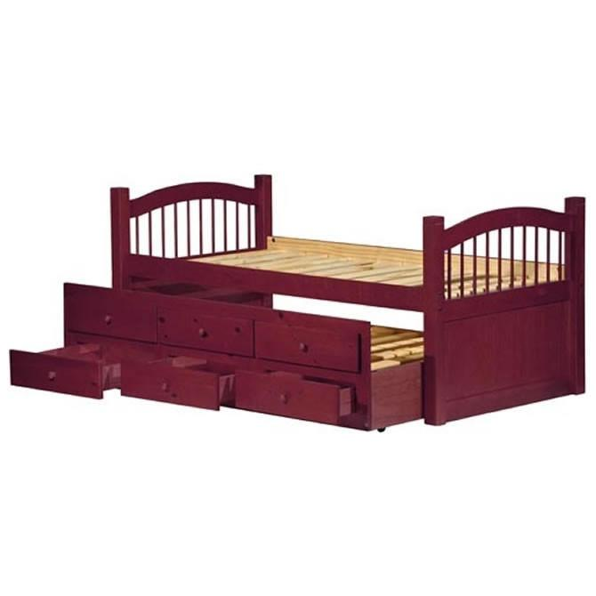 Palace Imports York Solid Wood 3 Drawers Trundle Twin Beds PIF-YORK-TRN-DRW-BED-VAR