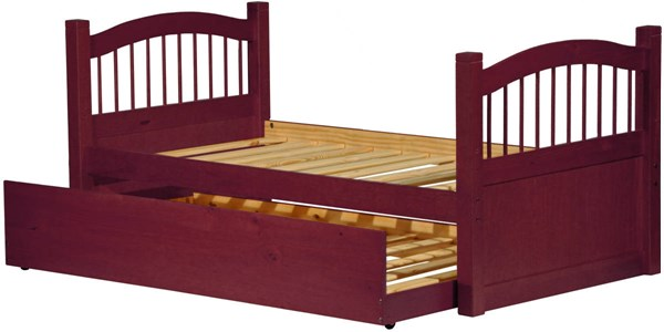 York Mahogany Solid Wood Twin Captain Bed w/Trundle PIF-2232-CBT