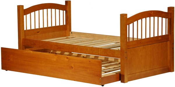 York Honey Pine Solid Wood Twin Captain Bed w/Trundle PIF-2234-CBT
