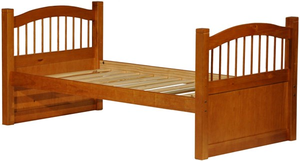 Palace Imports York Honey Pine Solid Wood Twin Captain Bed PIF-2234