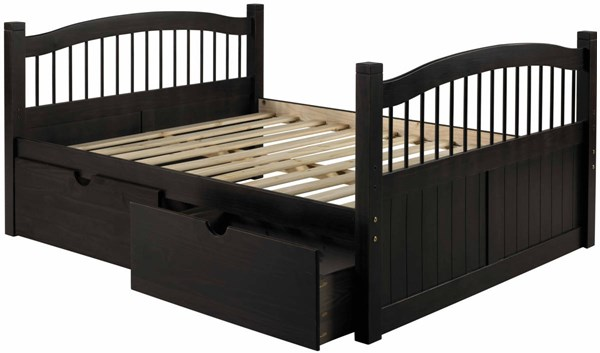 York Java Solid Wood Twin Captain Bed w/Drawers PIF-2236-CBD