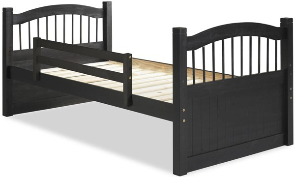 York Java Solid Wood Twin Captain Bed w/Rail Guard PIF-2236-CBR