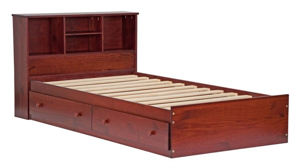 Palace Imports Kansas Solid Wood Two Drawers Mates Beds With Headboard PIF-KANSAS-MATE-BED-VAR