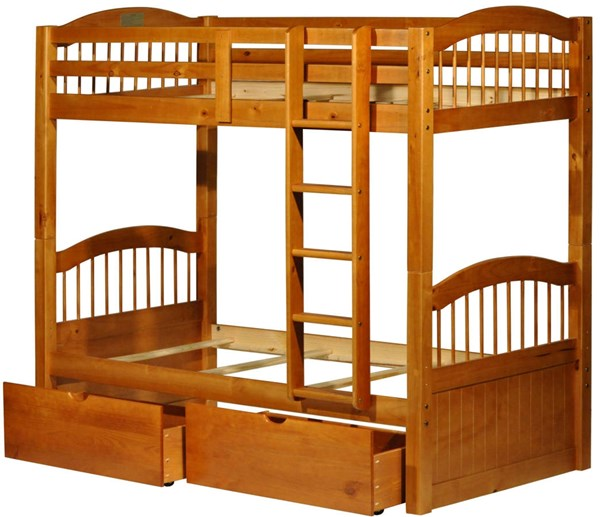 Triplet Solid Wood Twin/Twin Bunk Beds PIF-401-BNK-BED-VAR