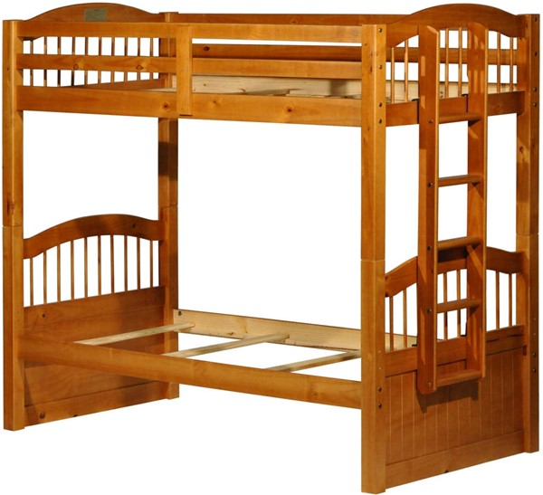 Triplet Honey Pine Solid Wood Twin/Twin Bunk Bed PIF-4014