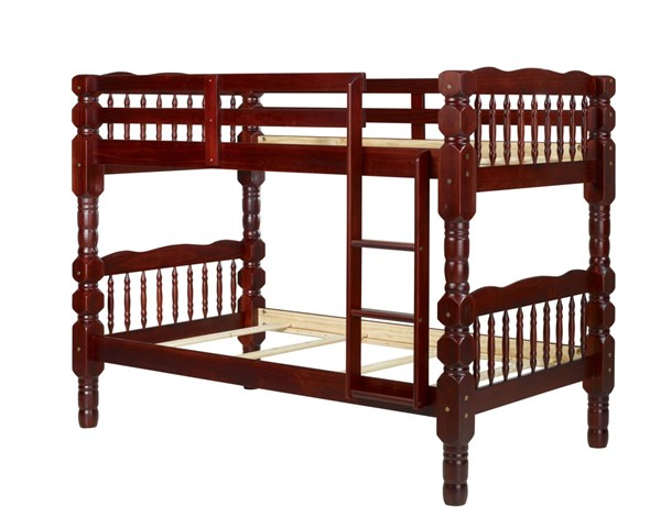 Palace Imports Dakota Mahogany Solid Wood Twin Over Twin Bunk Bed PIF-4092