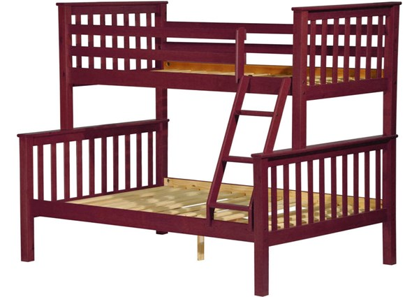Mission Mahogany Solid Wood Twin/Full Bunk Bed PIF-42542